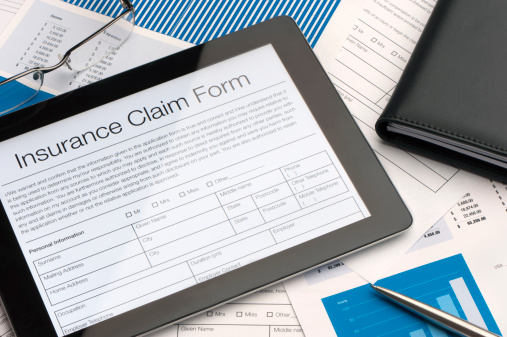 image of insurance claim papers