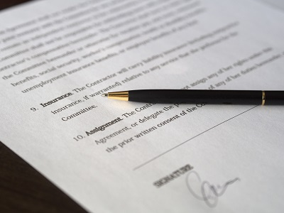 image of a contract