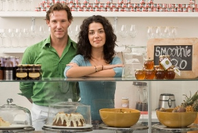 image of couple in cafe shop
